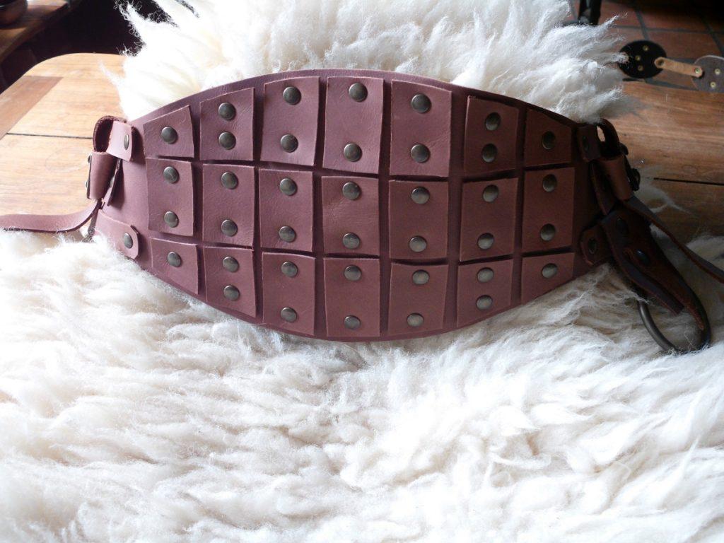 """ceinture cuir type médiéval protège ventre """"Anto"""""""